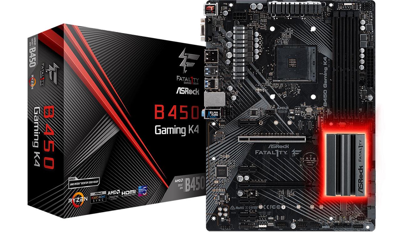 Das Mainboard mit der Technologie AMD StoreMI ASRock Fatal1ty B450 Gaming K4