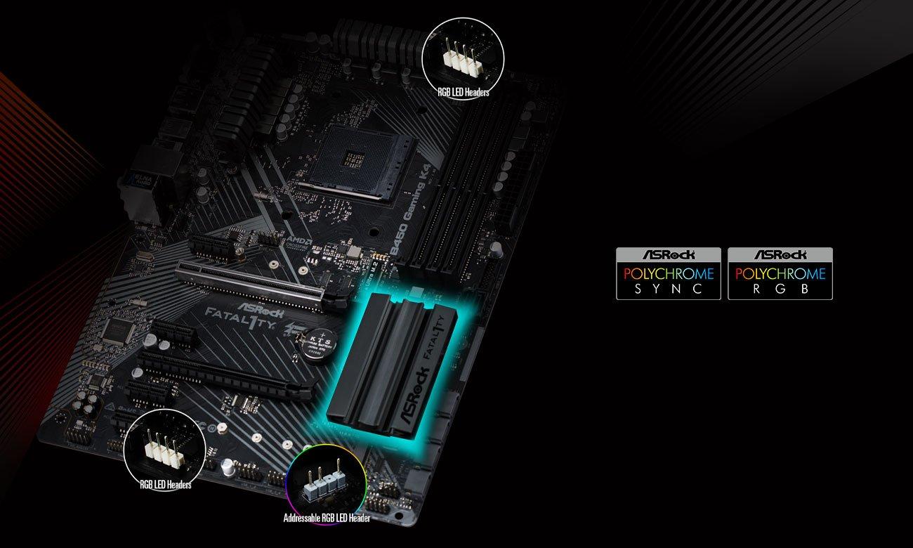 ASRock Fatal1ty B450 Gaming K4 Podświetlenie