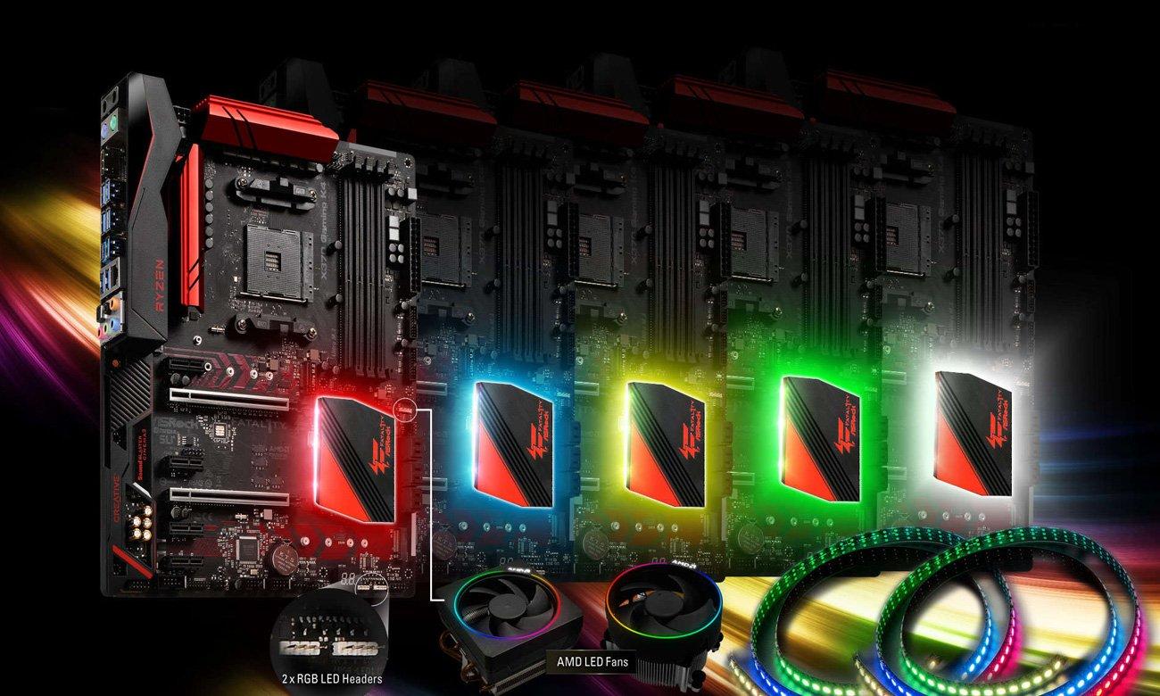ASRock Fatal1ty X370 Gaming X Podświetlenie RGB LED