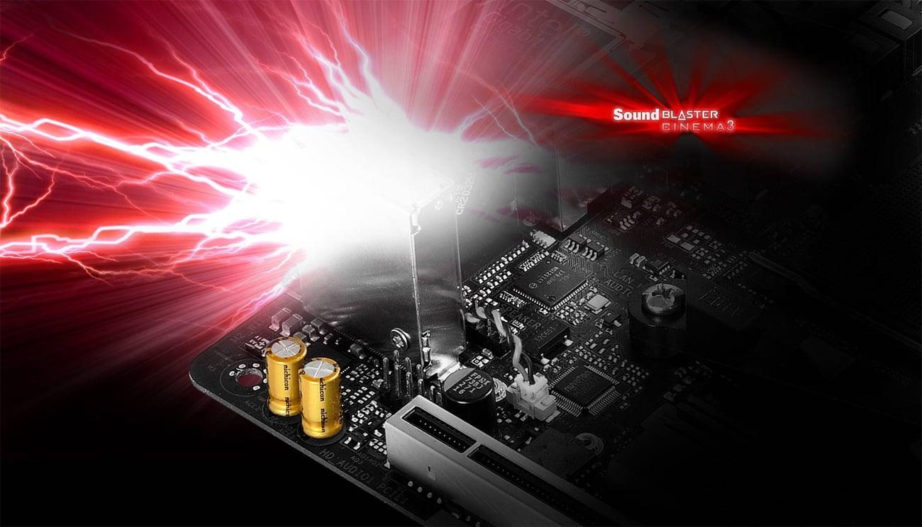 ASRock Fatal1ty X370 Gaming-ITX/ac Creative Sound Blaster™ Cinema 3