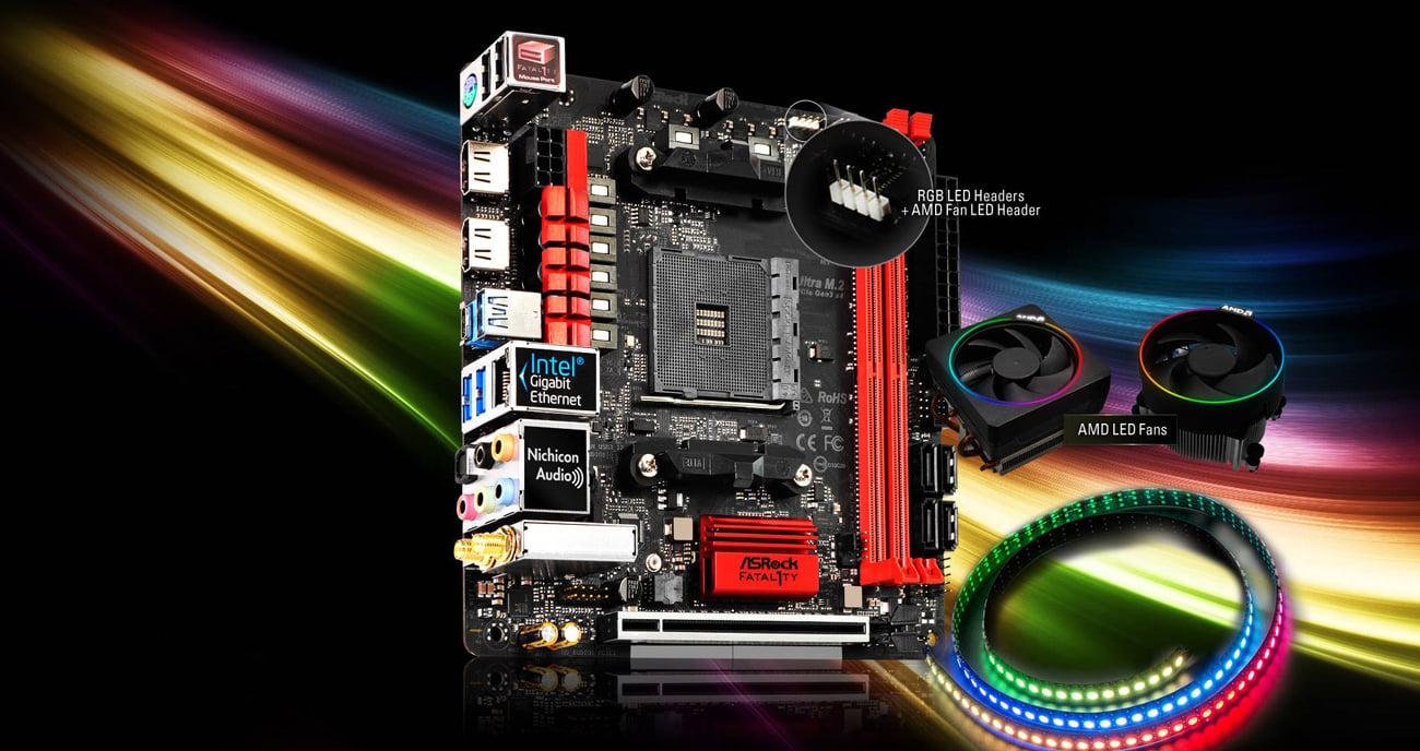 ASRock Fatal1ty X370 Gaming-ITX/ac RGB LED
