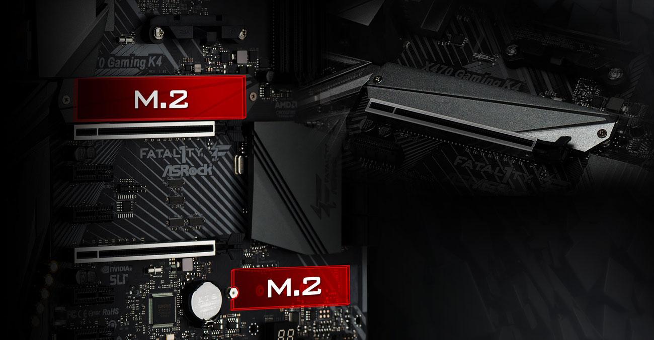 ASRock Fatal1ty X470 Gaming K4 Złącza M.2