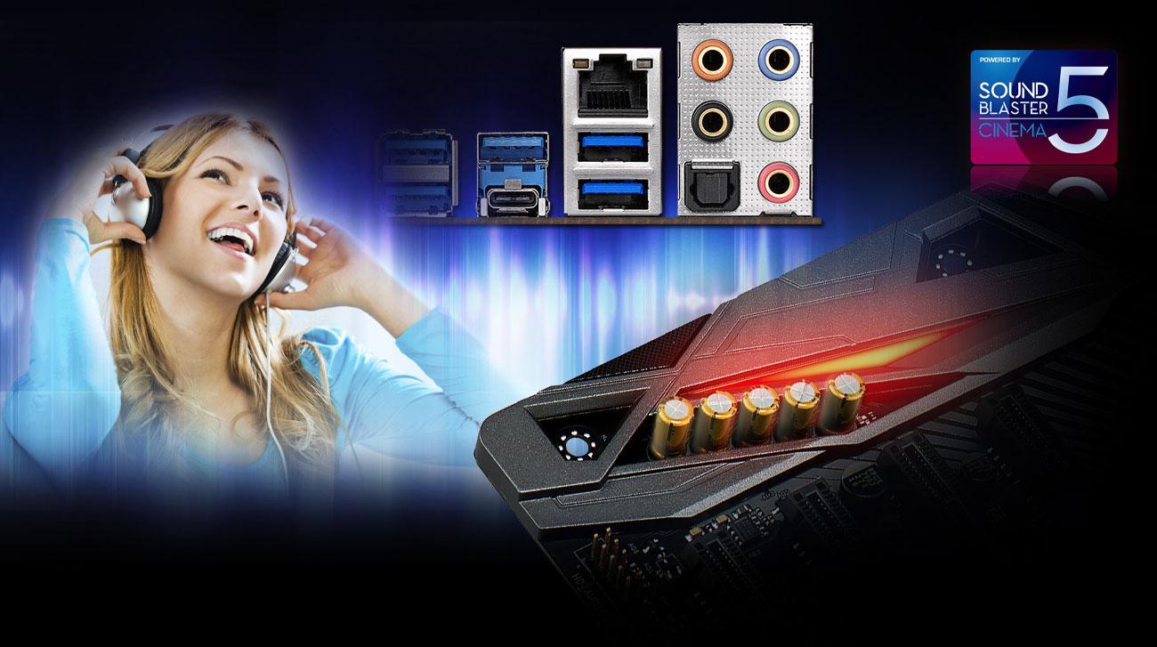 ASRock Fatal1ty X470 Gaming K4 Dźwięk Sound Blaster Cinema 5