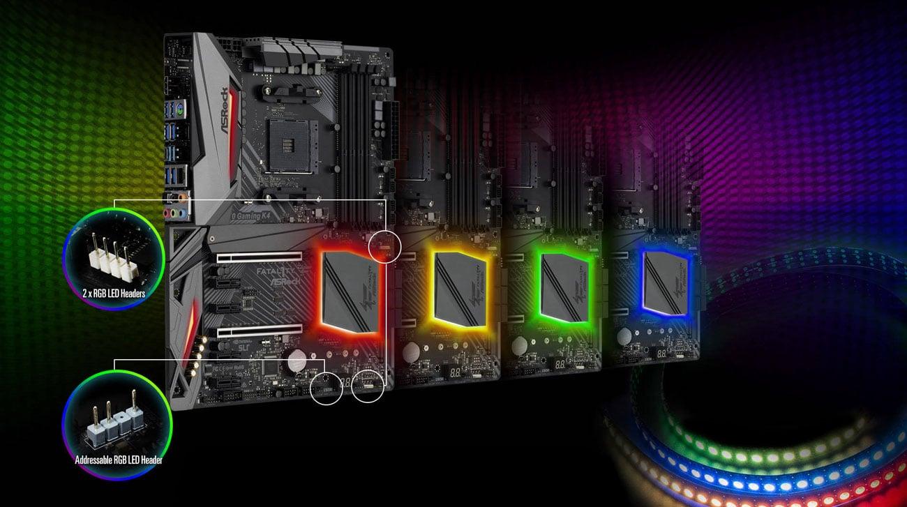 ASRock Fatal1ty X470 Gaming K4 Podświetlenie Polychrome RGB
