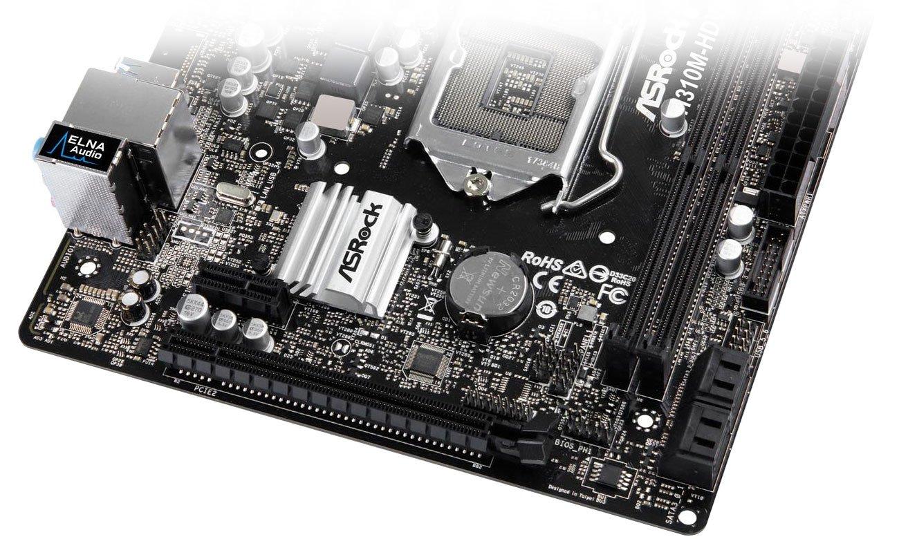 ASRock H310M-HDV Złącza SATA, USB