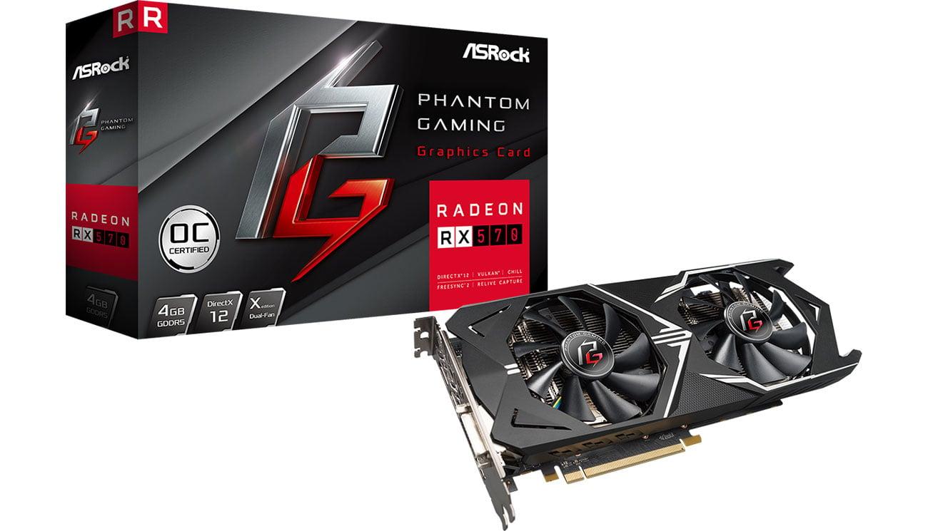 Karta graficzna AMD ASRock Radeon RX 570 Phantom Gaming X OC 4GB GDDR5 PHANTOM GXR RX570 4G OC