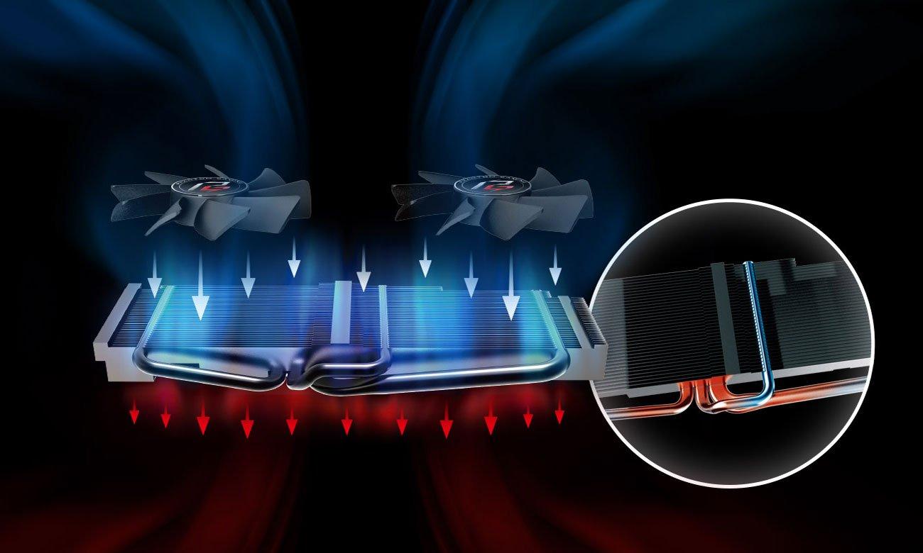 ASRock Radeon RX 570 Phantom Gaming X OC - Chłodzenie