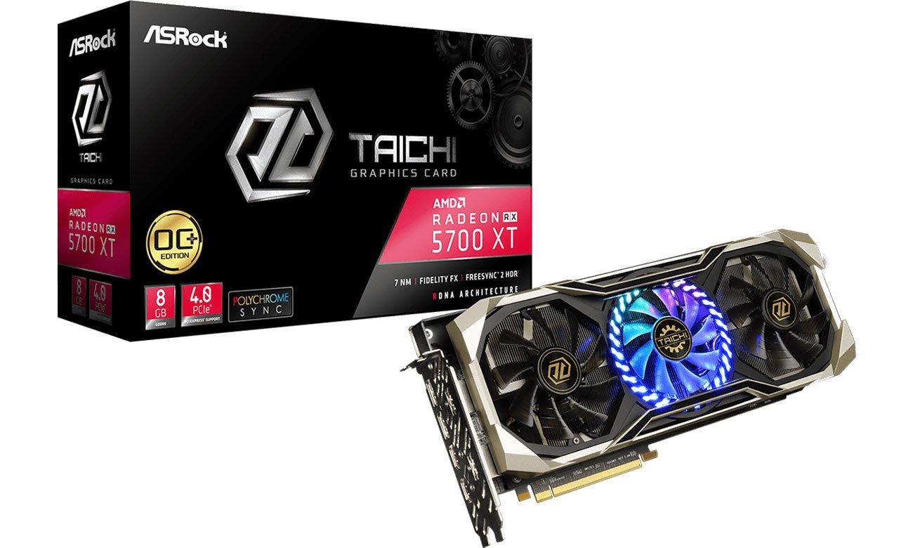 Karta graficzna AMD ASRock Radeon RX 5700 XT Taichi X OC+ 8GB GDDR6 RX5700XT TCX 8GP