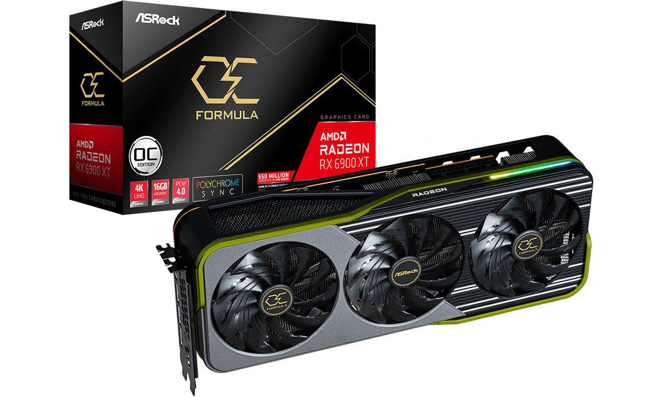 Karta graficzna AMD ASRock Radeon RX 6900 XT Formula OC 16GB GDDR6 RX6900XT OCF 16G