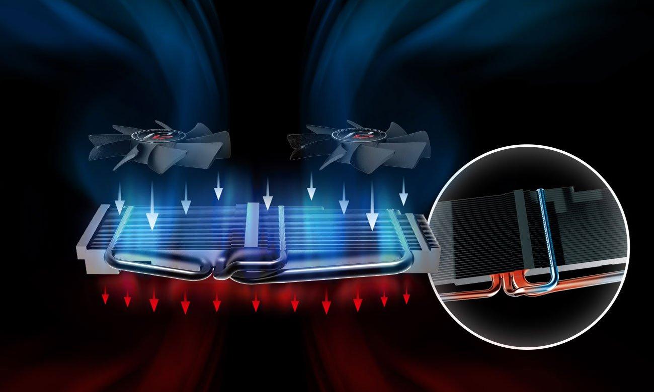 ASRock Radeon RX 580 Phantom Gaming X Chłodzenie