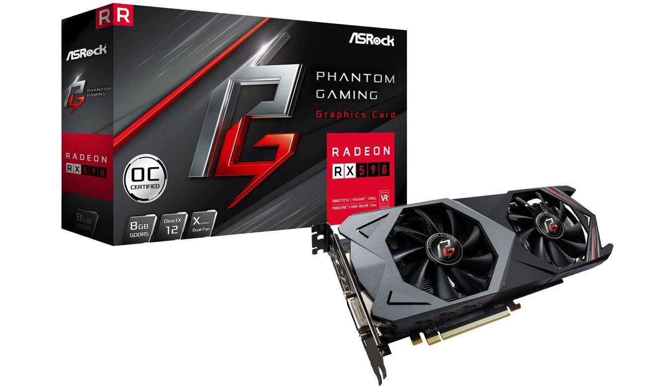 Karta graficzna AMD ASRock Radeon RX 590 Phantom Gaming X 8G OC GDDR5