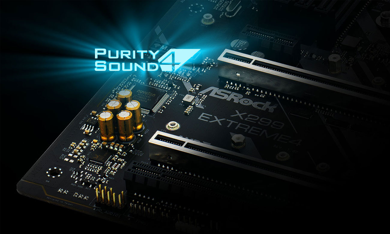 ASRock X299 EXTREME 4 Audio Purity Sound™ 4