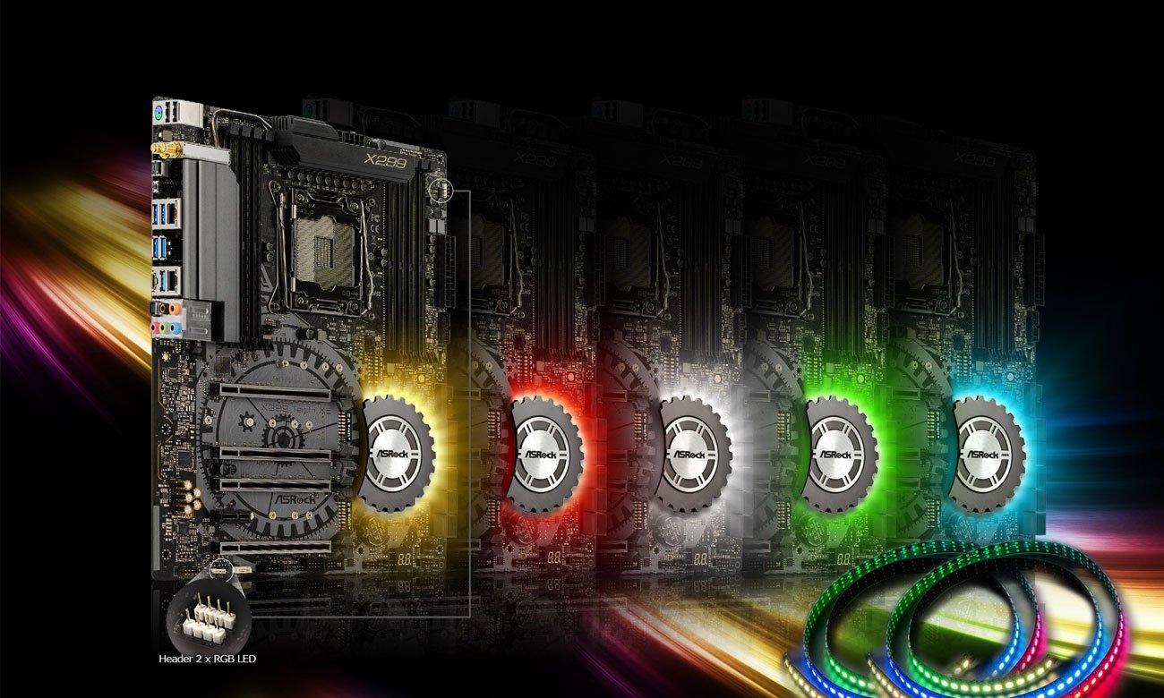 ASRock X299 TAICHI XE Podświetlenie RGB LED