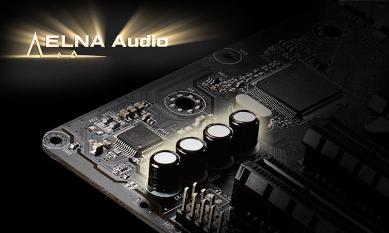 ASRock X370 Pro4 Kondensatory audio ELNA