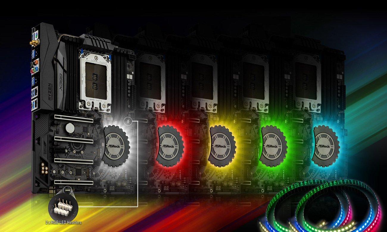 ASRock X399 TAICHI Podświetlenie RGB LED