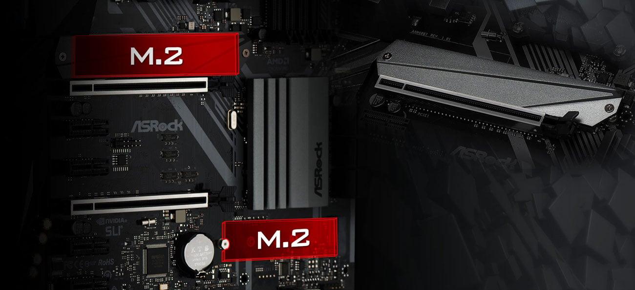 ASRock X470 Master SLI Złącza M.2