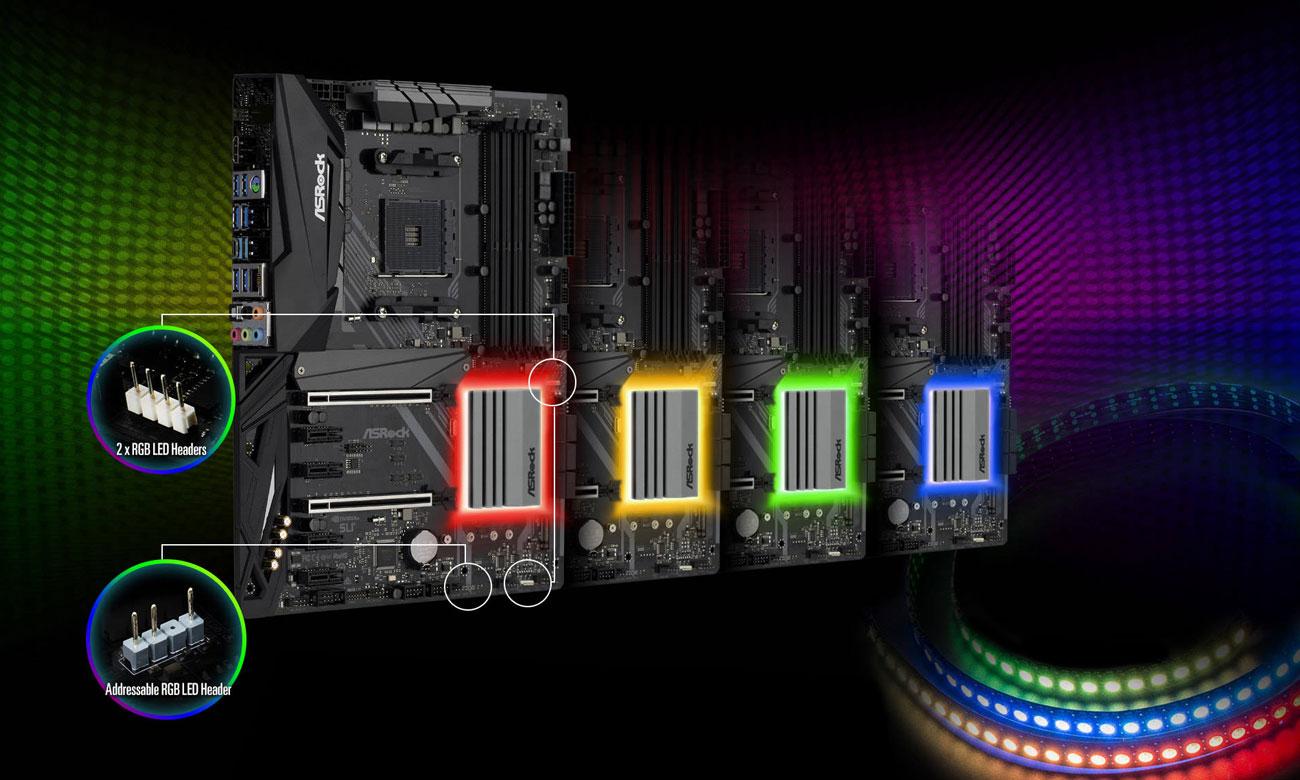 ASRock X470 Master SLI Podświetlenie LED Polychrome RGB