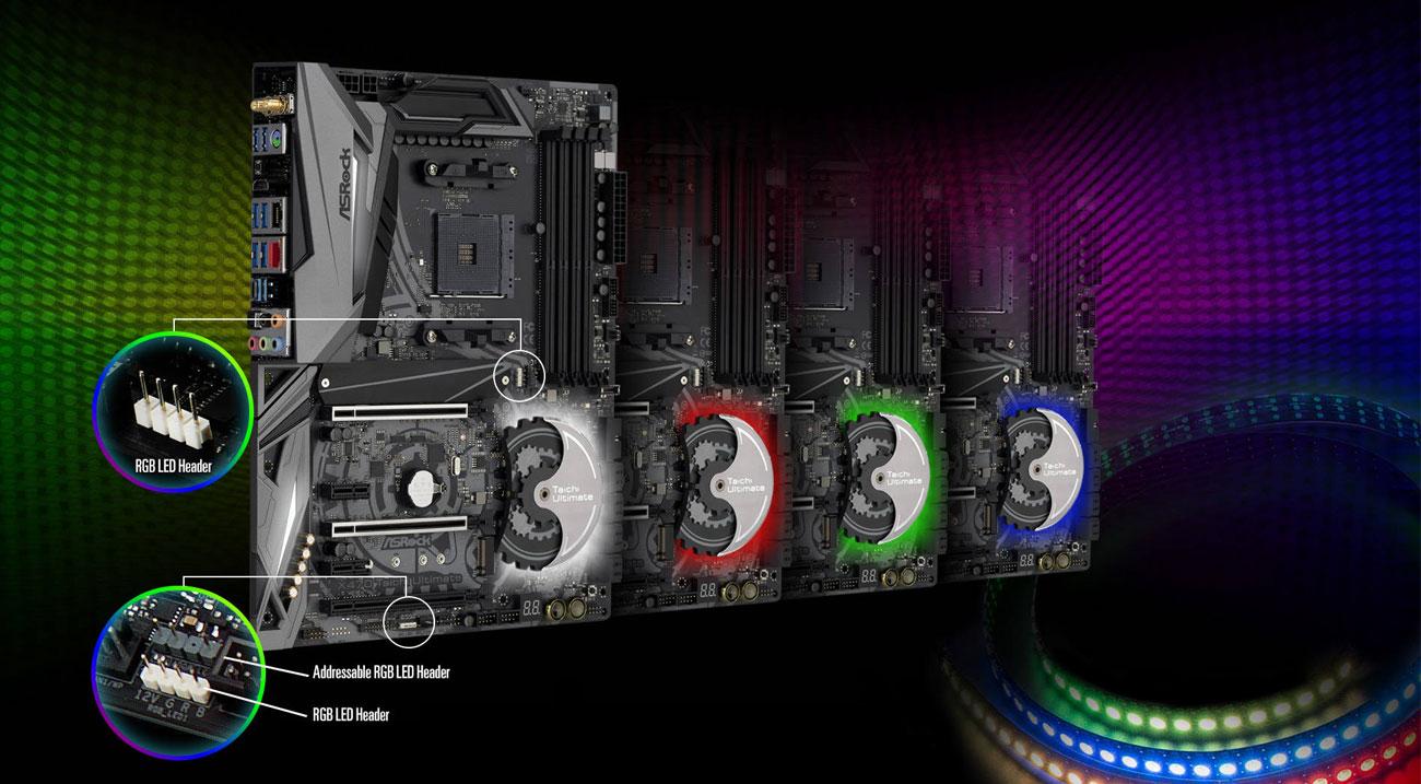 ASRock X470 Taichi Ultimate Podświetlenie Polychrome RGB