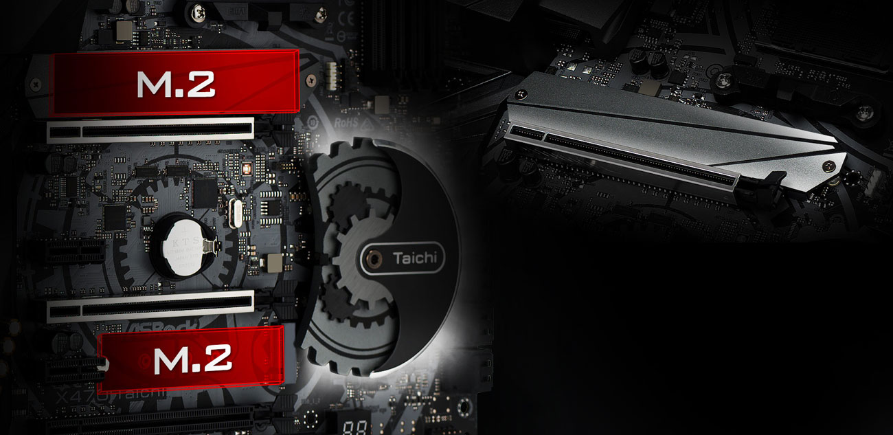 ASRock X470 Taichi Złącze Ultra M.2