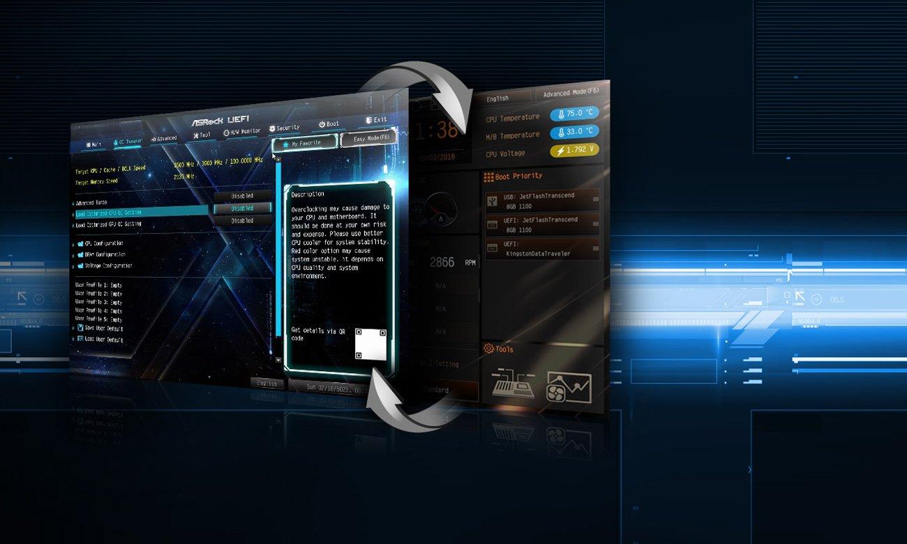 ASRock Z270 EXTREME4 BIOS UEFI oraz Tryb EZ