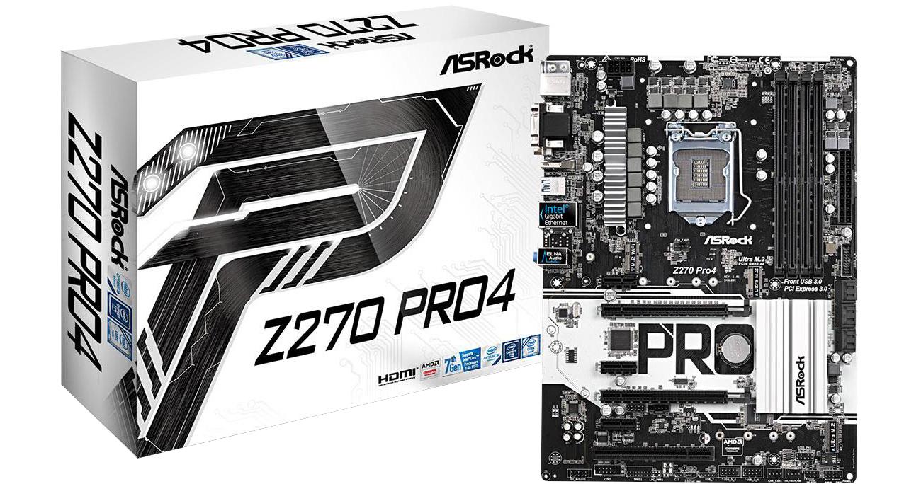 Płyta główna Socket 1151 ASRock Z270 PRO4 (2xPCI-E DDR4 USB3/M.2)