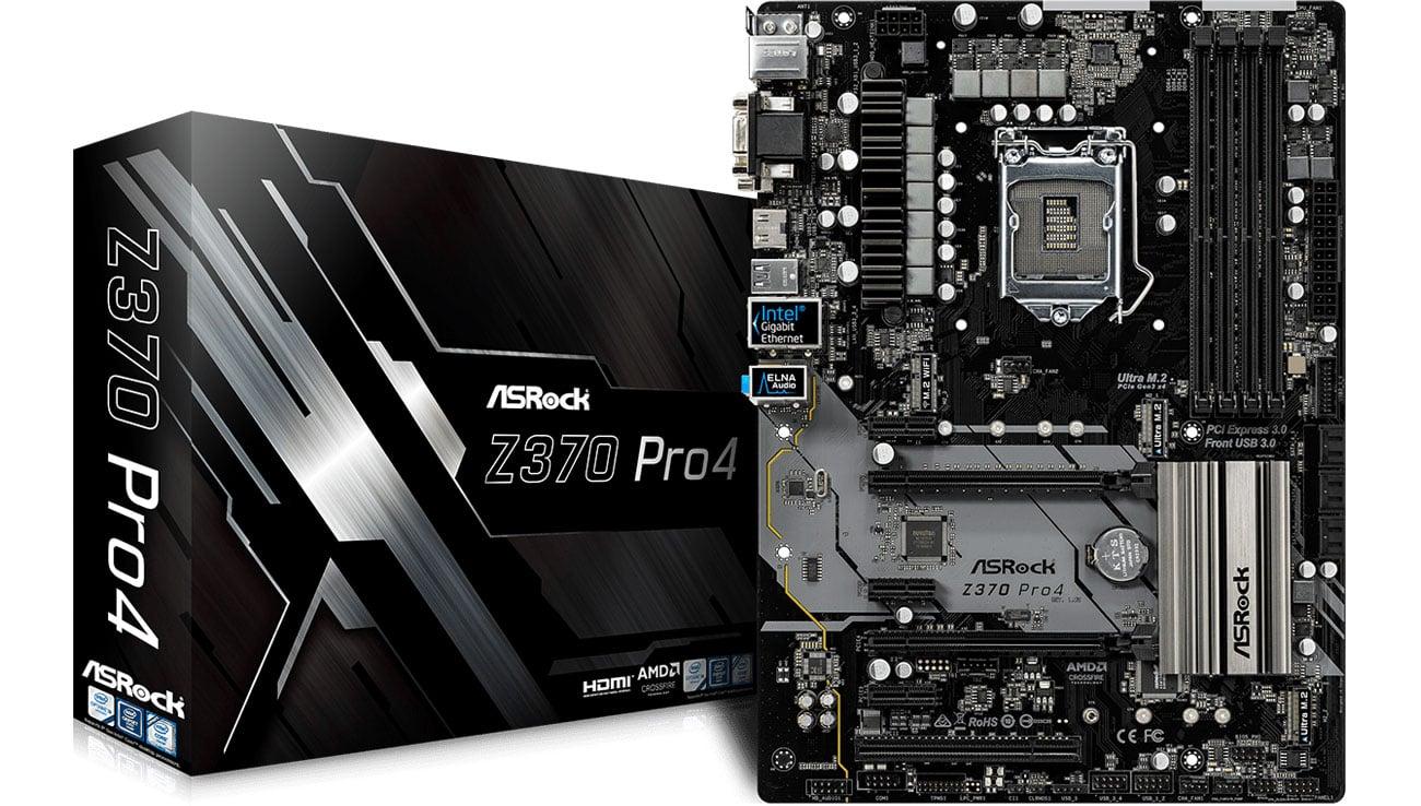 Płyta główna Socket 1151 ASRock Z370 Pro4 2xPCI-E DDR4 USB3.1/M.2