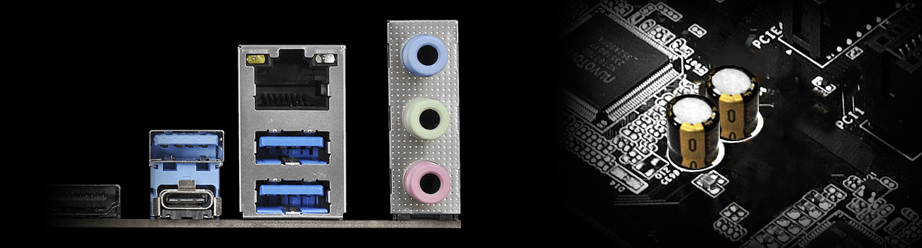 ASRock Z370 Pro4 Realtec ALC 892 Audio ELNA Caps