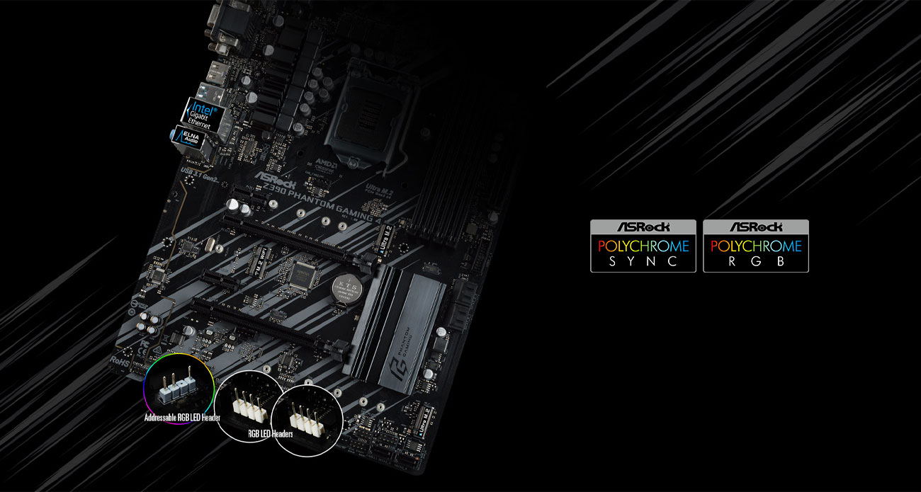 ASRock Z390 PHANTOM GAMING 4 Polychrome RGB