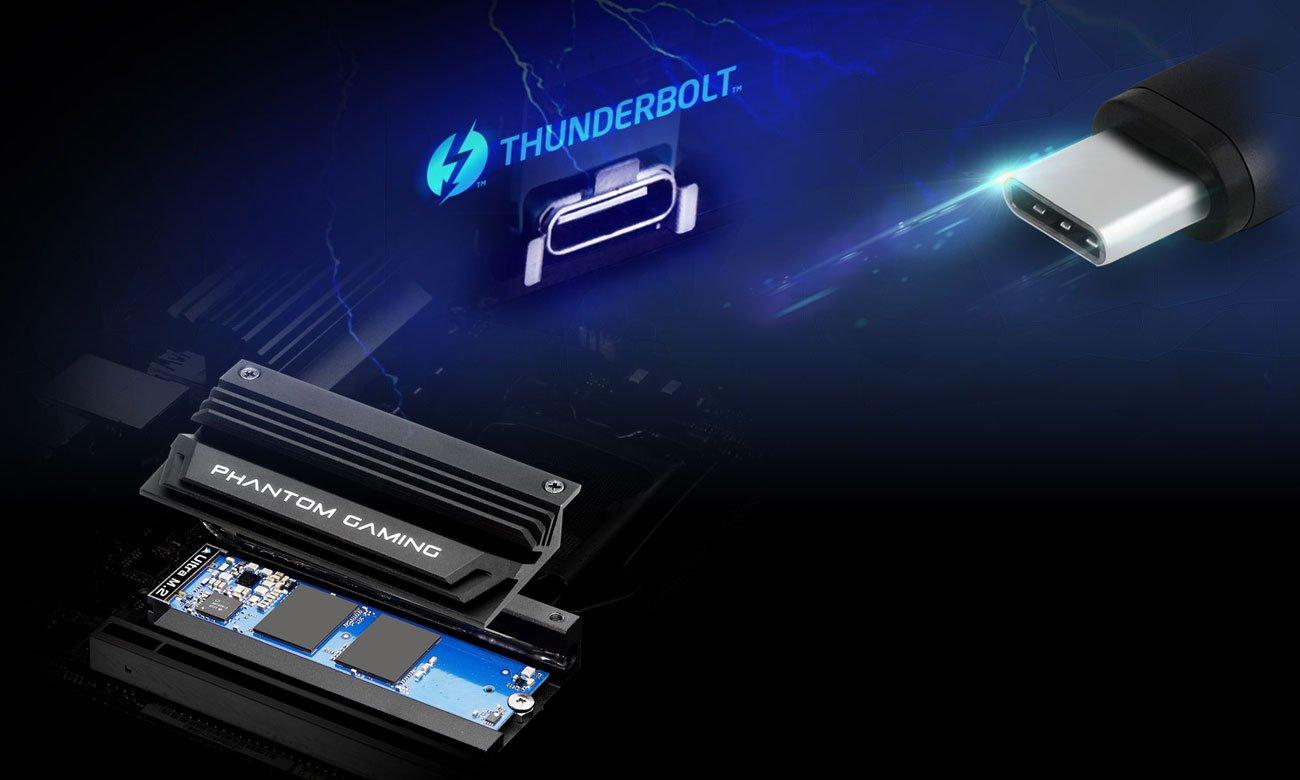 ASRock Z390 PHANTOM GAMING-ITX/AC Złącza M.2 USB-C
