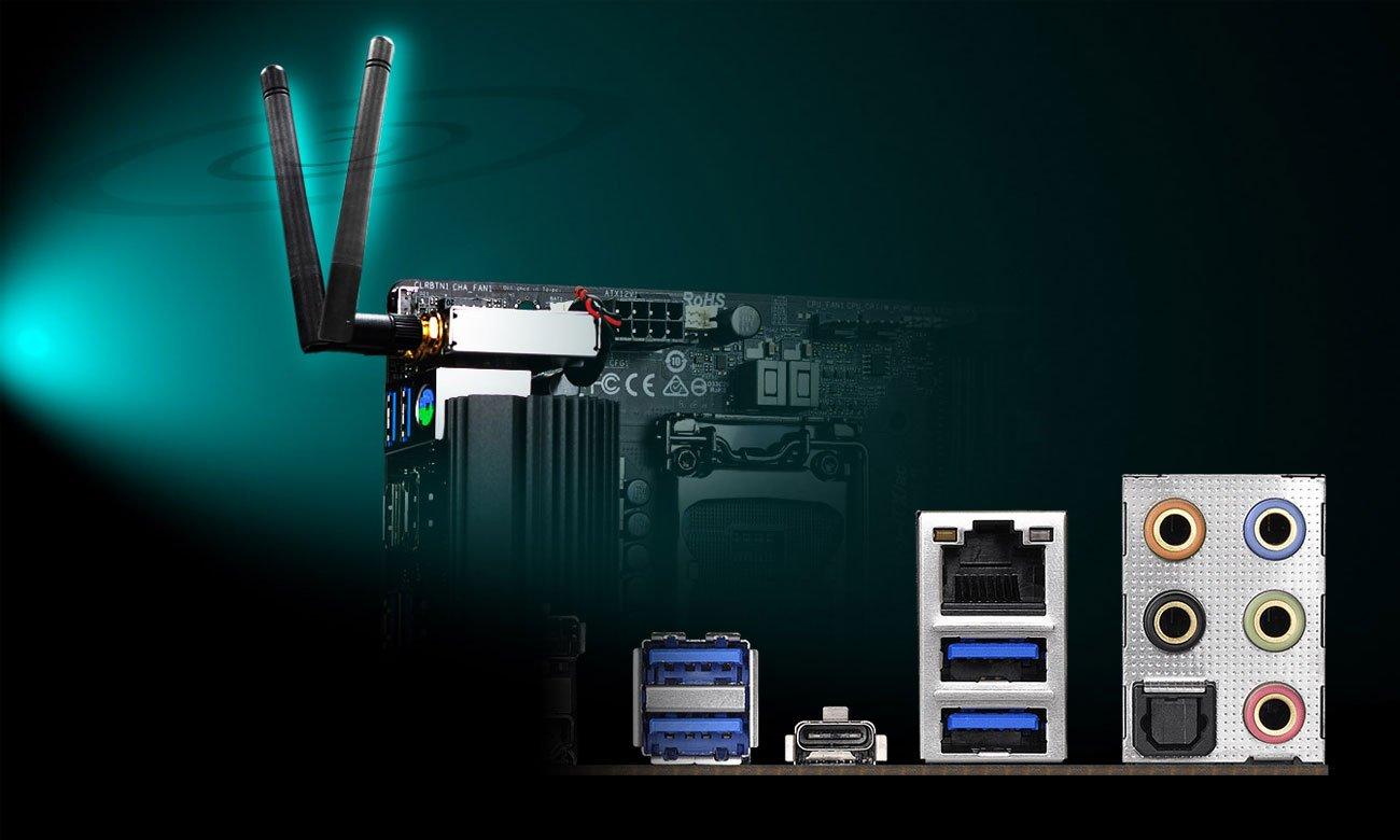 ASRock Z390 PHANTOM GAMING-ITX/AC Połączenie z siecią
