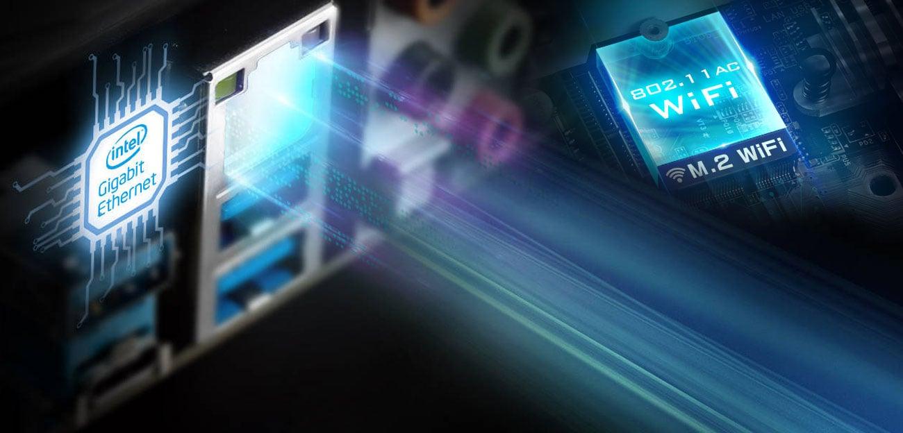 ASRock Z390 PRO4 Sieć Intel LAN
