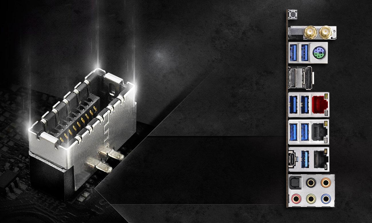 ASRock Z390 TAICHI ULTIMATE Złącza USB