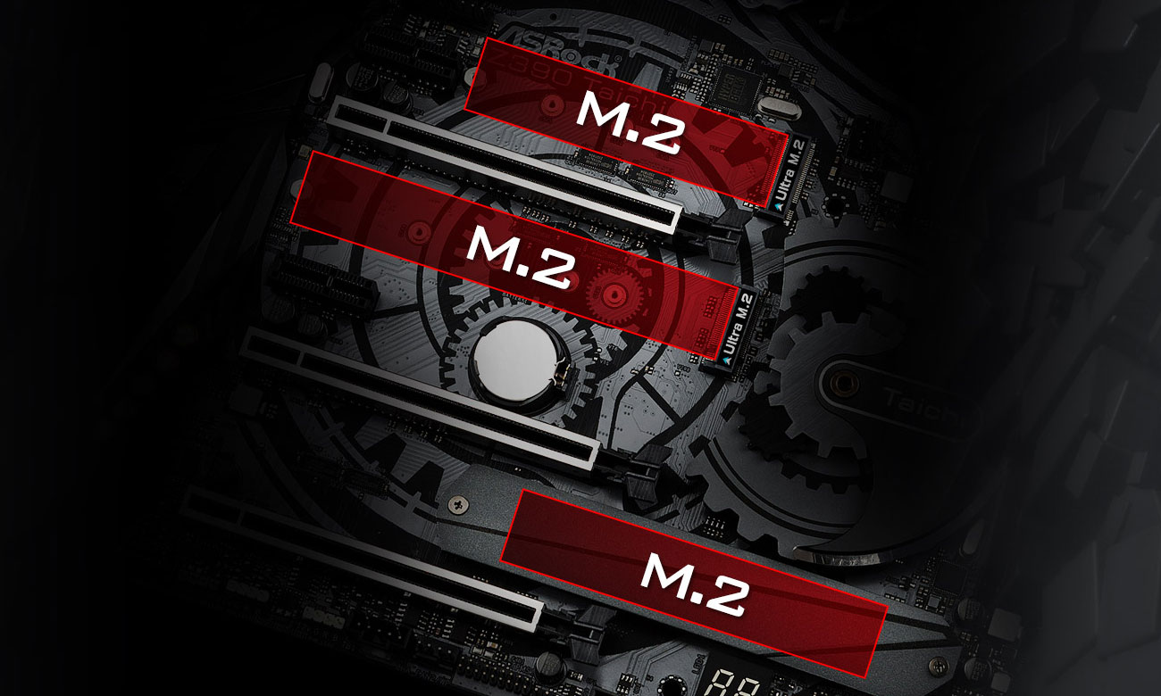 ASRock Z390 TAICHI Złącza M.2