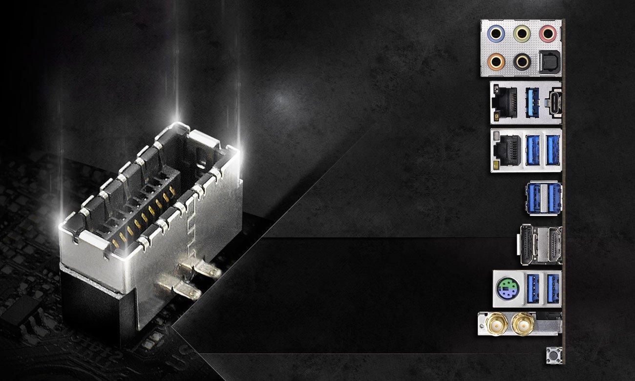 ASRock Z390 TAICHI Złącza USB