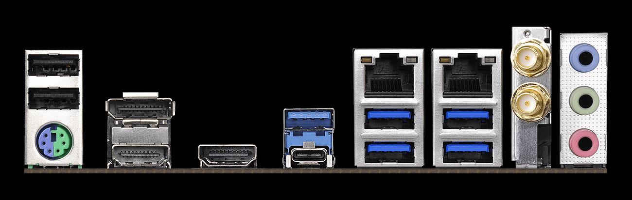 ASRock Z390M-ITX/AC Złącza audio