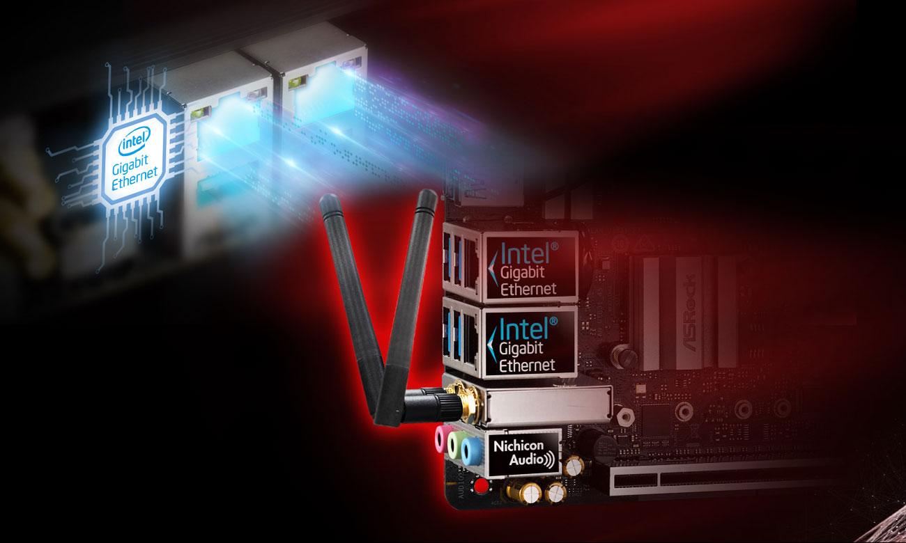 ASRock Z390M-ITX/AC Sieć LAN i WiFi