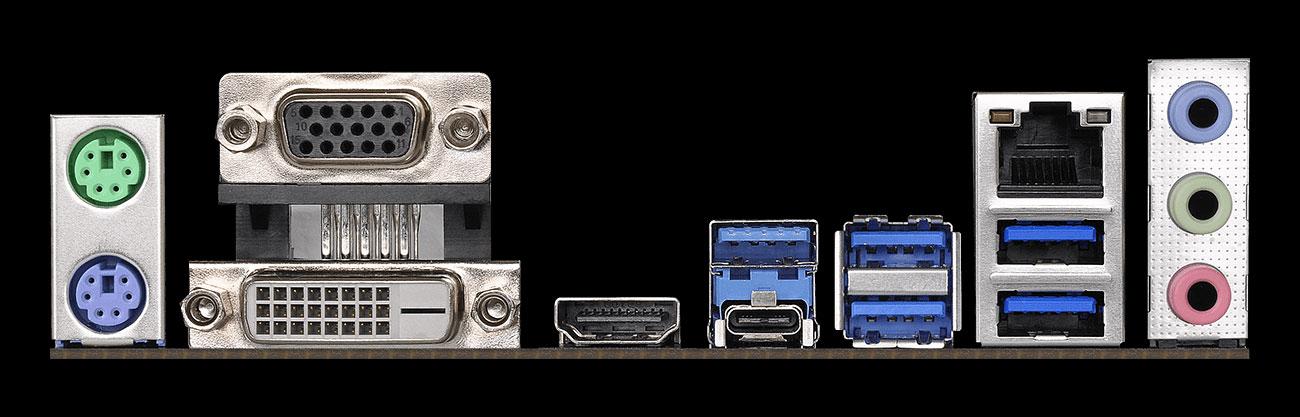 ASRock Z390M PRO4 Złącza audio