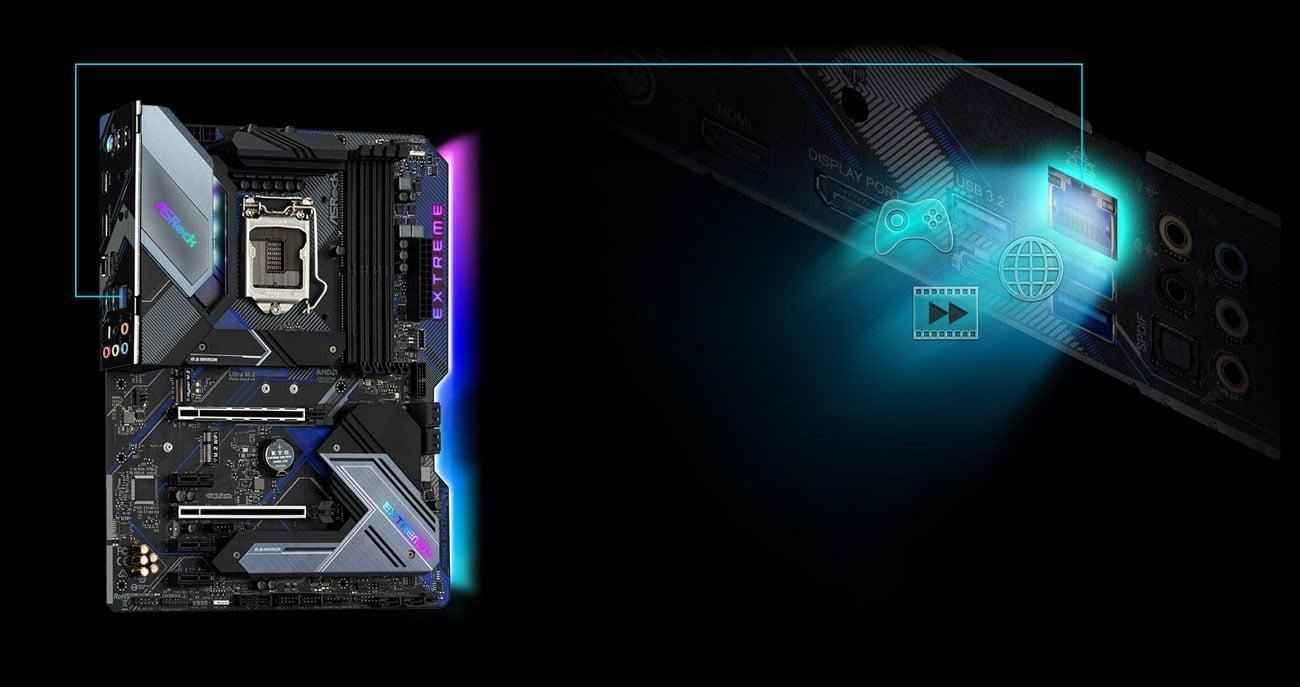 ASRock Z490 Extreme4 - Łączność LAN