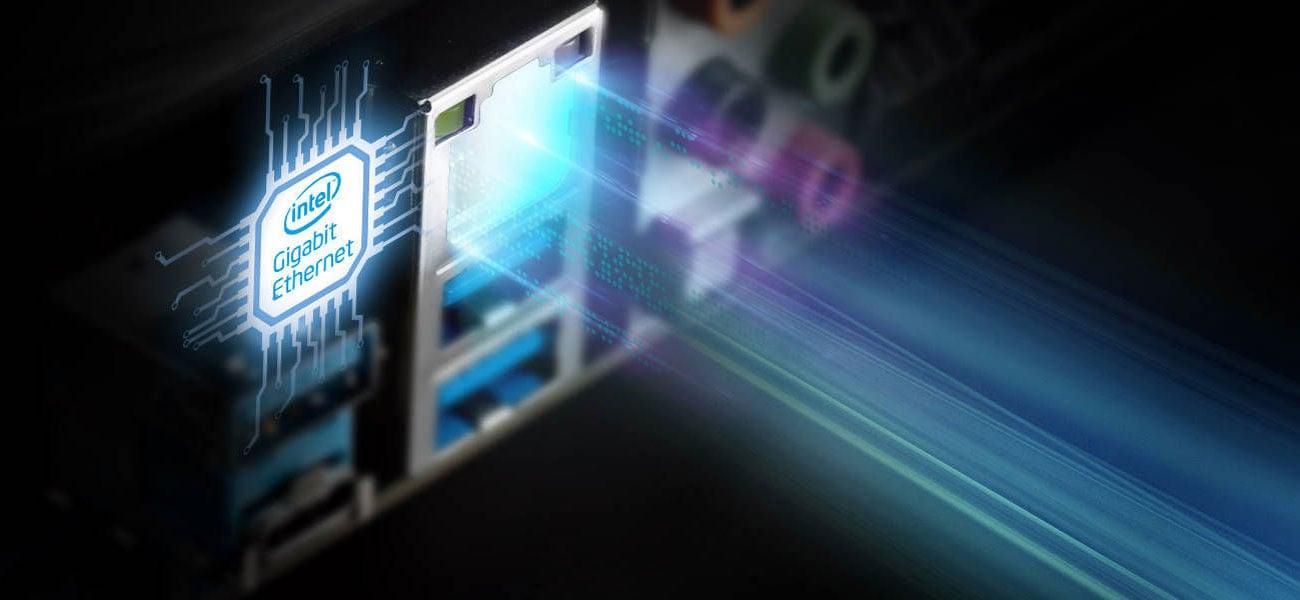 ASRock Z490 Phantom Gaming 4 - Łączność LAN