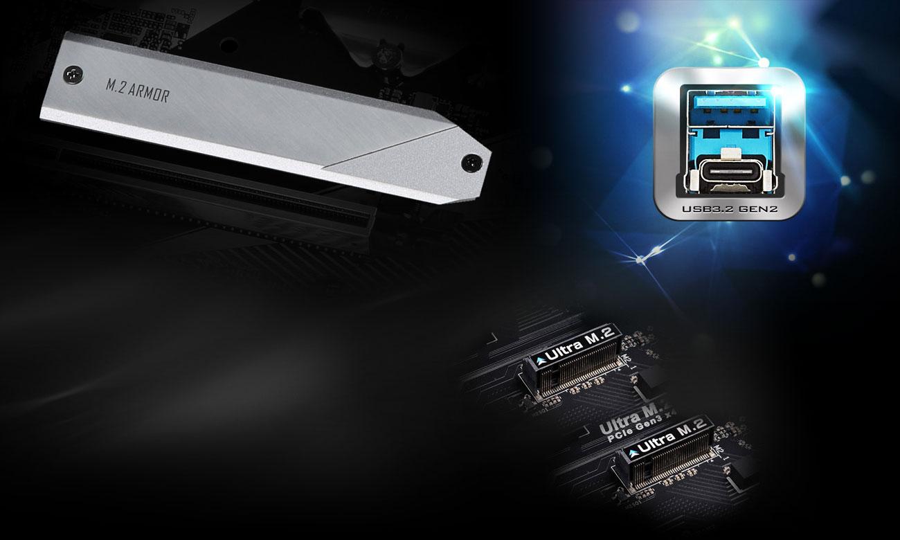 ASRock Z490M Pro4 - Złącza M.2,USB