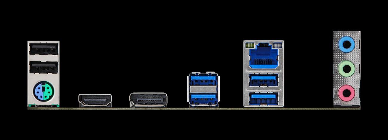 ASRock Z590 Pro4 - Złącza