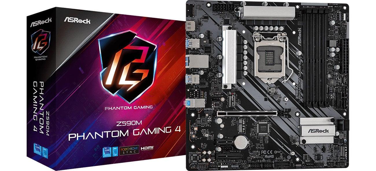 Płyta główna Socket 1200 ASRock Z590M Phantom Gaming 4