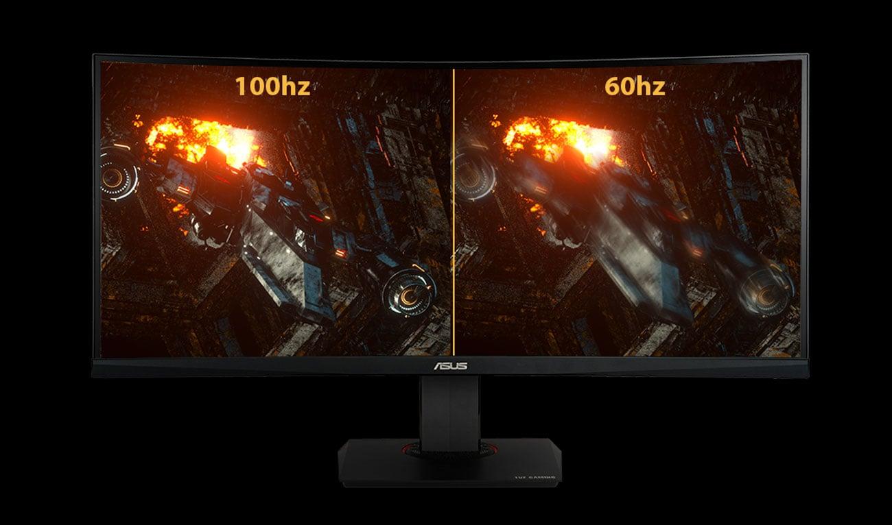Bildwiederholfrequenz von 100Hz im Monitor ASUS TUF Gaming VG35VQ 88,9 cm 35 Zoll TFT