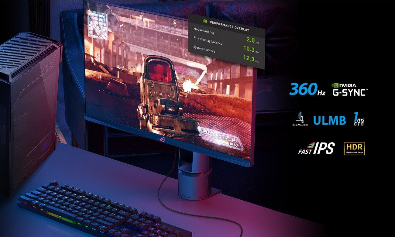 Monitor dla graczy ASUS ROG SWIFT PG259QNR