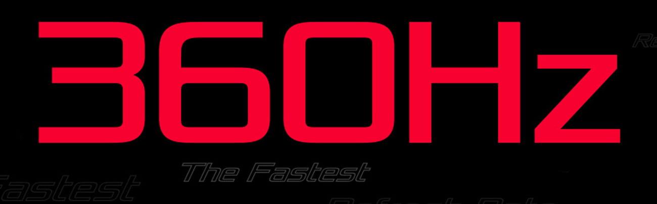 Częstotliwość odświeżania 360 Hz