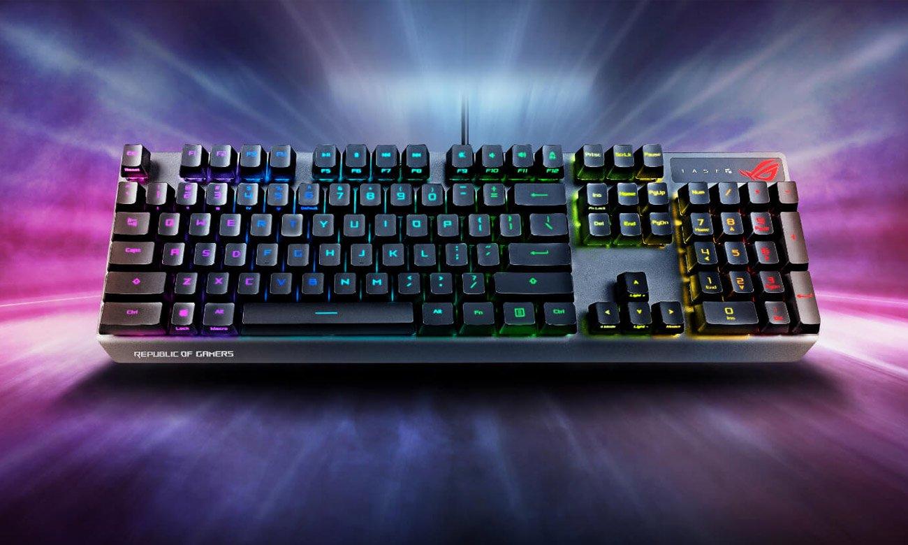 Graj i zwyciężaj z klawiaturą ASUS ROG Strix Scope RX
