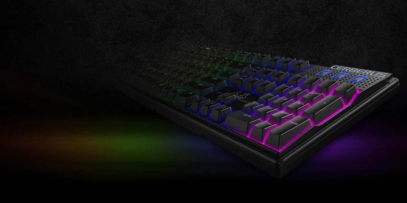 ASUS Cerberus Mech RGB Technologia 100% anti-ghosting NKRO