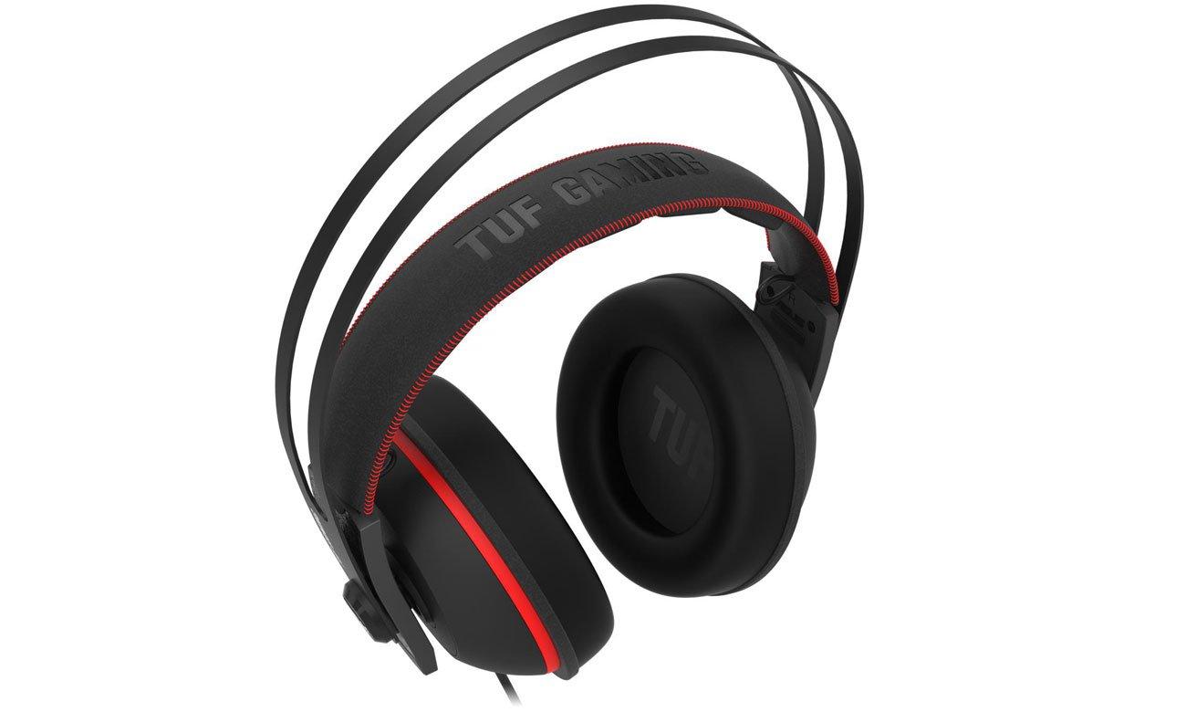 Zestaw słuchawkowy ASUS TUF Gaming H7 czerwony