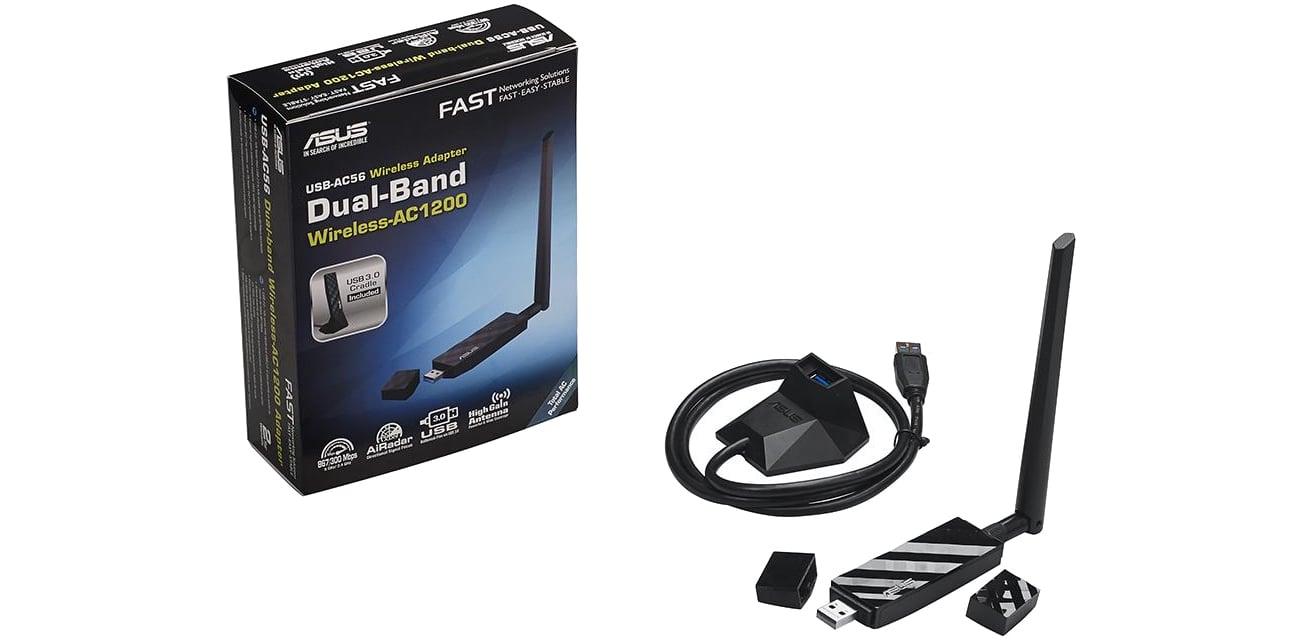 ASUS USB-AC56 zestaw