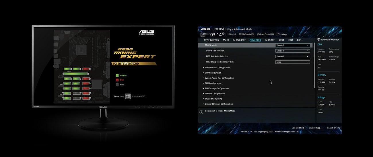 ASUS B250 MINING EXPERT Zoptymalizowany BIOS